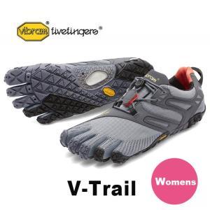 VibramFiveFingers ビブラムファイブフィンガーズ 5本指シューズ V-Trail Grey/Black/Orange レディース 17w6906|protocol