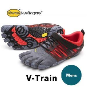 VibramFiveFingers ビブラムファイブフィンガーズ 5本指シューズ V-Train Grey / Black / Red|protocol