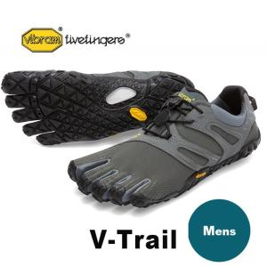ビブラムファイブフィンガーズv trail メンズ VibramFiveFingers 5本指シューズ V-Trail Dark Grey / Sage 18M6901|protocol