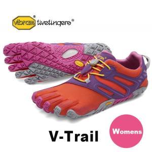 VibramFiveFingers ビブラムファイブフィンガーズ 5本指シューズ V-Trail Magenta / Orange レディース 18w6901|protocol