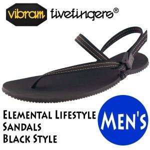 サンダル EARTH RUNNERS アースランナーズ Vibram FiveFingers ビブラム Elemental Lifestyle Sandals Black Style 19ES0001|protocol