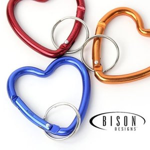 カラビナ ブランド キーリング おしゃれ BISON DESIGNS バイソンデザイン Heart Mini カラビナ|protocol