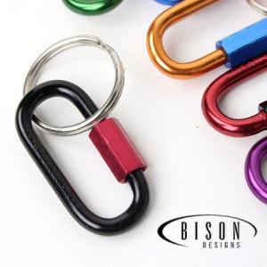 キャンプ 便利グッズ 小物 フェス ファッション バイソン カラビナ BISON DESIGNS バイソンデザインズ チェーンリンク|protocol