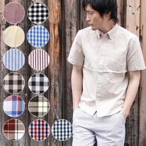 ギンガムチェックシャツ メンズ 半袖 folie ショートスリーブ ボタンダウン|protocol