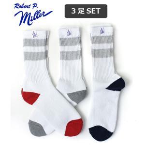 アウトドアブランド 靴下 メンズ ブランド ロバート ピー ミラー Robert P.Miller 3Pack ソックス 306C 3足セット キャンプ アウトドア|protocol