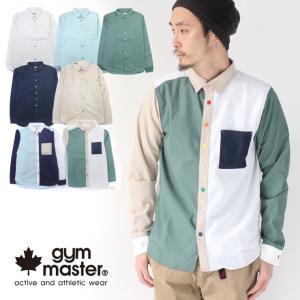 ジムマスター シャツ gym master カラフル スナップボタン 2way 綿麻シャツ G102658 / 送料無料|protocol