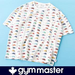 フェス Tシャツ ブランド gym master ハッピーペイントジャガードビック TEE G233633 半袖 メンズ レディース ブランド 大きいサイズ|protocol