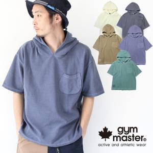 フェス Tシャツ ブランド メンズ ジムマスター gym master ピグメント リップル ビッグ パーカー ファッション キャンプ アウトドア G233643|protocol