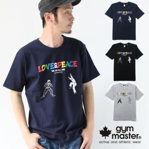 フェス Tシャツ ブランド メンズ ジムマスター gym master LOVE & PEACE G233686 ファッション キャンプ アウトドア 送料無料|protocol