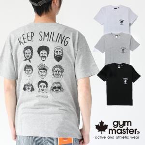 フェス Tシャツ ブランド メンズ ジムマスター 半袖 gym master KEEP SMILING TEE 233689 キャンプ アウトドア 送料無料|protocol