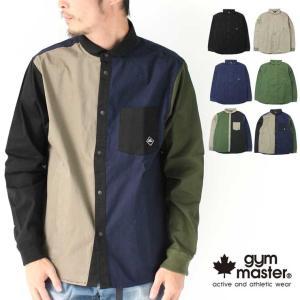 ジムマスター アウター シャツジャケット メンズ gym master ストレッチヘリンボーンシャツ ブランド G333628|protocol