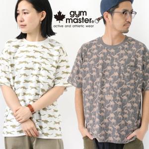 ジムマスター tシャツ メンズ レディース トップス gym master 梨地 ハッピーペイント G433697 半袖 柄 クルーネック protocol