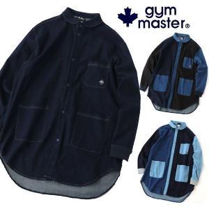 gym master ジムマスター G533669 ストレッチ デニム ロングシャツ|protocol