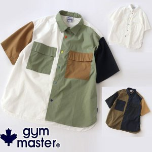 キャンプ 服装 メンズ gym master ジムマスター スナップボタン S/S ビックシャツ G633640 レディース 女子|protocol