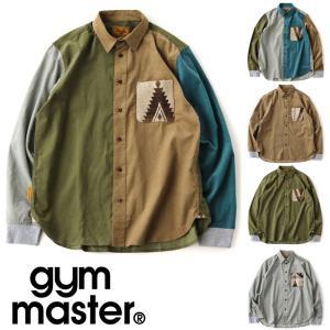 ジムマスター シャツ メンズ 大きいサイズ gym master ジャガードポケットコーデュロイシャツ G718660 秋 冬 秋冬|protocol