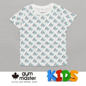 gym master ジムマスター Kid's ビッグペイント Tee G733303K サメ Tシャツ 半袖 キッズ 丸首 子供服|protocol