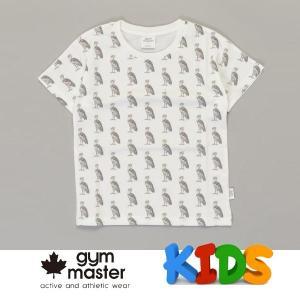 gym master ジムマスター Kid's ビッグペイント Tee G733303K ハシビロコウ Tシャツ 半袖 キッズ 丸首 子供服|protocol