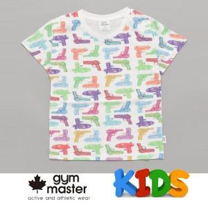 gym master ジムマスター Kid's ビッグペイント Tee G733303K 水鉄砲 Tシャツ 半袖 キッズ 丸首 子供服|protocol