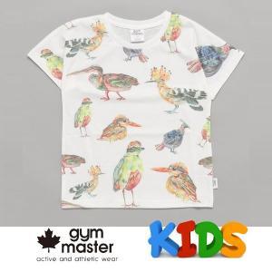 gym master ジムマスター Kid's ビッグペイント Tee G733303K 山鳥 Tシャツ 半袖 キッズ 丸首 子供服|protocol