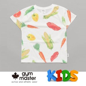 gym master ジムマスター Kid's ビッグペイント Tee G733303K 野菜 Tシャツ 半袖 キッズ 丸首 子供服|protocol