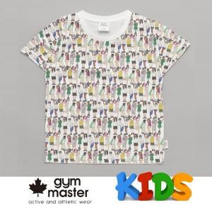 gym master ジムマスター Kid's ビッグペイント Tee G733303K ピープル Tシャツ 半袖 キッズ 丸首 子供服|protocol