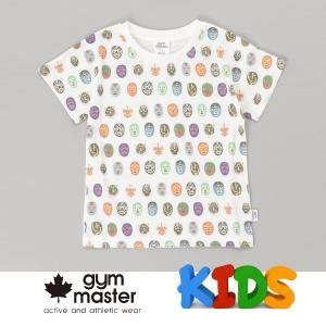 gym master ジムマスター Kid's ビッグペイント Tee G733303K 覆面レスラー Tシャツ 半袖 キッズ 丸首 子供服|protocol