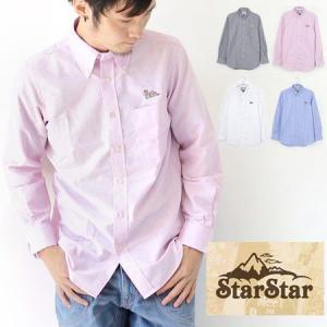 シャツ 春 StarStar キノコ刺繍 オックス B.D シャツ/メンズ アウトドア 長袖|protocol