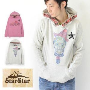 StarStar 裏毛チロリアン フード プルオーバー パーカー/メンズ 裏毛 チロリアン|protocol