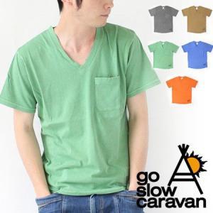 Tシャツ メンズ ブランド ゴースローキャラバン go slow caravan 天竺 / 返品・交換不可 / お一人様1点|protocol