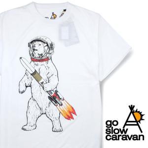 ゴースローキャラバン メンズ Tシャツ go slow caravan S/S プリント スペースクマ TEE 461968|protocol