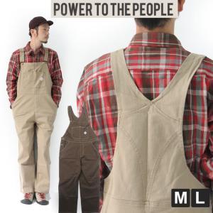 オーバーオール メンズ 大きいサイズ POWER TO THE PEOPLE  ムービング オーバーオール ブランド アウトドア ワークウェア キャンプ 服装 protocol