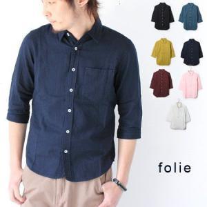 ガーゼシャツ 7分袖 folie Wガーゼ レギュラー シャツ/メンズ|protocol