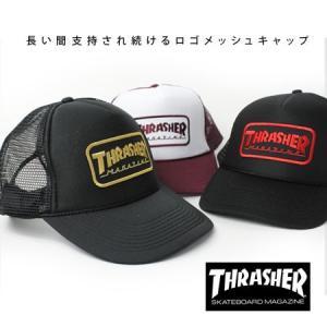 アメカジ メッシュキャップ ブランド スラッシャー キャップ 帽子 メンズ メッシュ THRASHER レディース|protocol