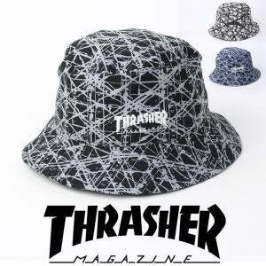 スラッシャー 帽子 メンズ ブランド ハット 夏 THRASHER Patterned Bucket Hat バケットハット 春 春夏|protocol
