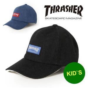 アウトドアブランド 帽子 キッズ ベビー スラッシャー キャップ THRASHER BOX LOGO デニム 20TH-C72K|protocol