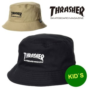 帽子 キッズ スラッシャー ハット THRASHER MAGLOGO ツイル バケットハット 21TH-H04K 男の子 女の子 子供 小学生|protocol