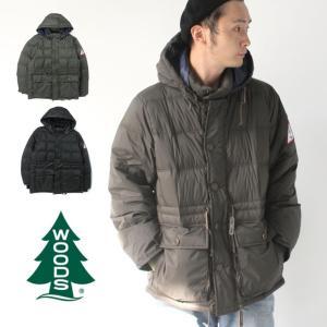 woods ダウン フード付きダウンジャケット canada カナダ アウター アウトドア Hooded Puffy Jacket  2C5-9824|protocol