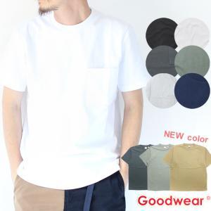グッドウェア tシャツ メンズ 半袖 Goodwear USAコットン ポケット TEE 2W7-2500 春 夏 無地 定番 大きいサイズ 送料無料|protocol