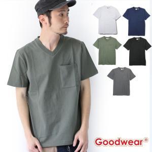 フェス Tシャツ ブランド メンズ Goodwear Vネック TEE 2W7-73508 大きいサイズ ファッション アウトドア キャンプ|protocol