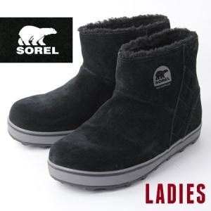 sorel グレイシー ショート レディース 5195 ソレル Glacy Short BLACK/SHARK LL5195 010 スノーブーツ 秋 冬 秋冬|protocol