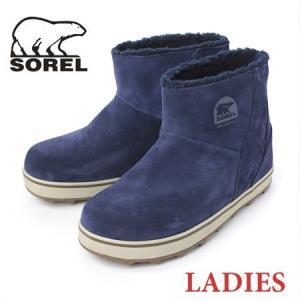 ソレル ブーツ レディース ショート sorel グレイシー 5195 Glacy Short COLLEGATE NAVY LL5195|protocol