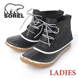 ソレル レディース スノーブーツ ブラック sorel ブーツ 防水 黒 Out 'n About Leather NL2133|protocol