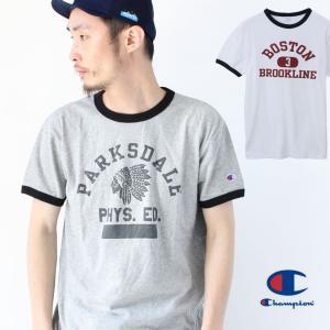 チャンピオン Tシャツ メンズ 半袖 新品 Champion リンガー Tシャツ 半袖 C3-P339|protocol