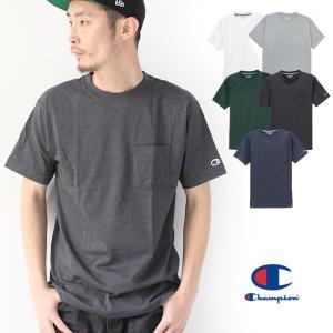 チャンピオン Tシャツ メンズ 半袖 ポケット Champion C3-PS323 速乾 春 夏 春夏 / 送料無料|protocol