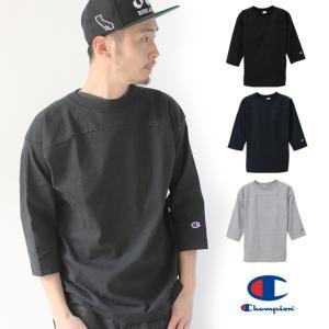 チャンピオン Tシャツ USA 七分袖 ラグラン 七分 厚手 アメリカ製 メンズ Champion フットボールT C5-P405 レディース / 送料無料|protocol