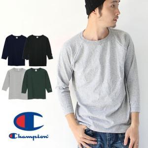 チャンピオン Tシャツ メンズ 7分袖 tシャツ Champion ラグラン3/4スリーブ 7分袖 Tシャツ MADE IN USA C5-U401|protocol