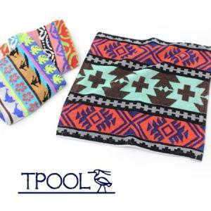 TPOOL トゥプール HAND TOWEL ハンドタオル T1401/ハンカチ パイル ネイティブ ジャガード アウトドア|protocol