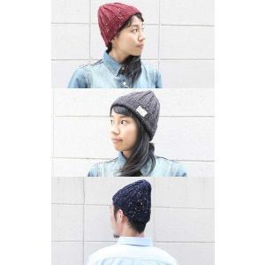 ニット帽 メンズ 冬 大きい 秋 帽子 レディース スノボ Pgeek スノー ミックス ワッチキャップ 秋冬 黒 白 グレー|protocol|03