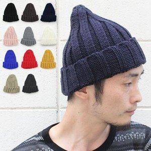 ニット帽 メンズ 冬 大きい スノボ とんがり リブ編み 帽子 レディース グレー 白 黒 秋 秋冬|protocol