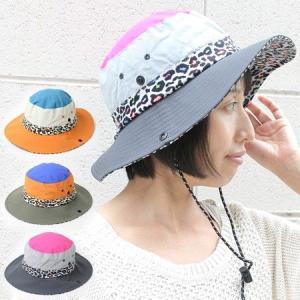 帽子 サファリハット ツバ裏 アニマル柄 サファリハット アウトドア 大きい UVカット 日除け 日よけ 紫外線対策|protocol
